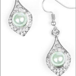Pearl with Rhinestones earrings